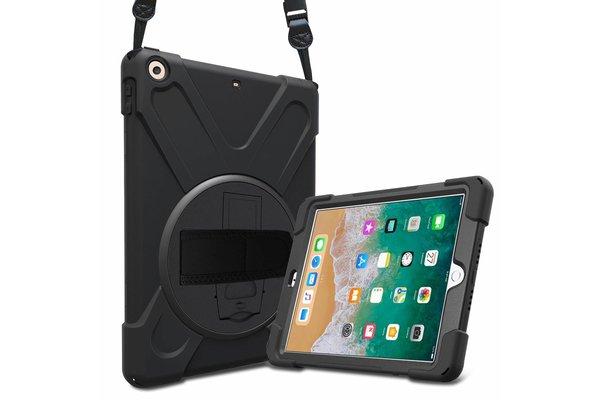 iPadspullekes.nl iPad 2017 Protector Hoes met handvat en schouderriem en standaard