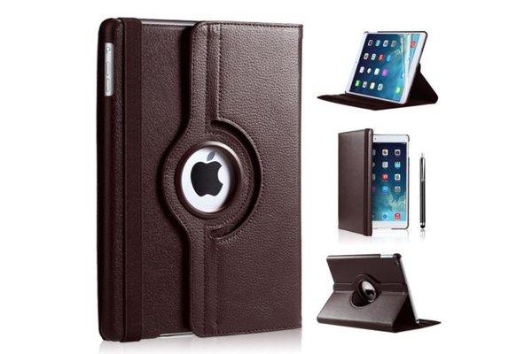 iPadspullekes.nl iPad Air 2019 hoes 360 graden bruin leer