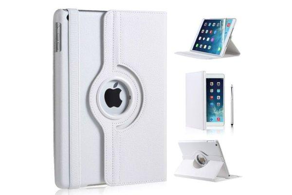 iPadspullekes.nl iPad Air 2019 hoes 360 graden wit leer