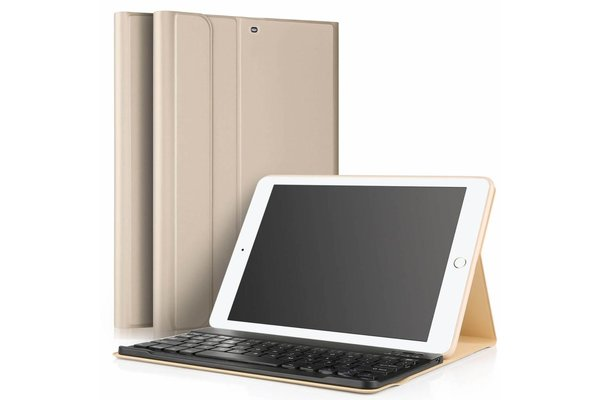 iPadspullekes.nl iPad Air 2019 hoes met afneembaar toetsenbord goud
