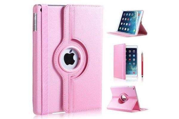 iPadspullekes.nl iPad Mini 5 hoes 360 graden leer licht roze