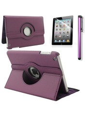 iPadspullekes.nl iPad Mini 5 hoes 360 graden leer paars