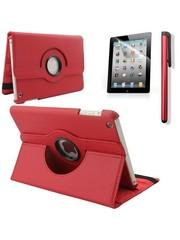 iPadspullekes.nl iPad Mini 5 hoes 360 graden leer rood
