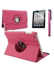 iPadspullekes.nl iPad Mini 5 hoes 360 graden leer roze