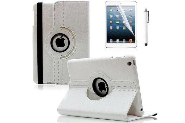 iPadspullekes.nl iPad Mini 5 hoes 360 graden leer wit
