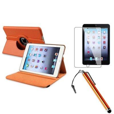 iPadspullekes.nl iPad Mini 5 hoes 360 graden leer oranje