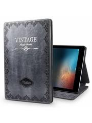 iPadspullekes.nl iPad hoes Mini 4 leer vintage grijs