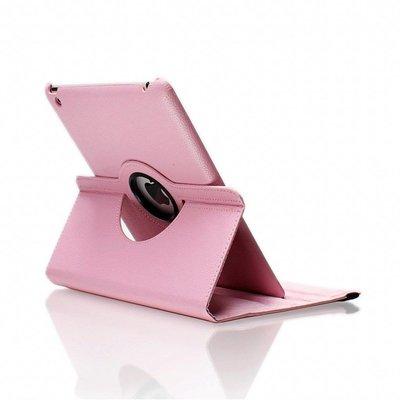 iPadspullekes.nl iPad Air 2 hoes 360 graden licht roze leer