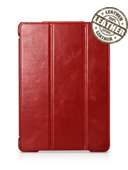 IcareR iPad 2017 Smart Cover Leer Rood