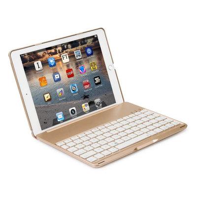 iPadspullekes.nl iPad 2018  toetsenbord hoes goud