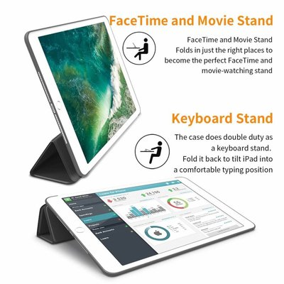 iPadspullekes.nl iPad 2019 10.2 Smart Cover Case Zwart