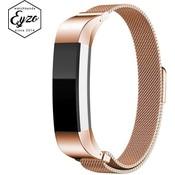 iPadspullekes.nl [BOL] Eyzo Milanees bandje - Fitbit Alta (HR) - Rosegoud - Small