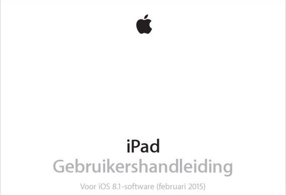 Gebruikershandleiding iPad installeren.