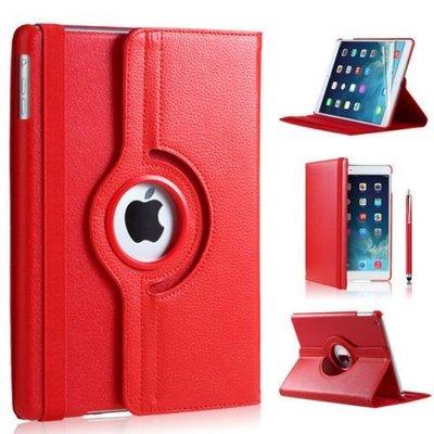 iPadspullekes.nl iPad Pro 9.7 hoes 360 graden rood leer