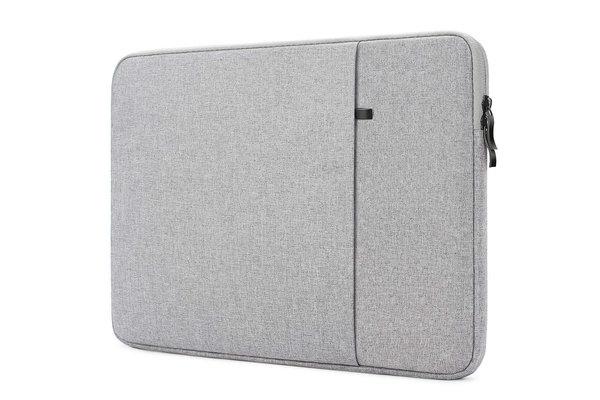 iPadspullekes.nl Laptop sleeve - 11.6 inch - licht grijs - Spatwaterproof - Ritsluiting - tablet sleeve - iPad sleeve - universeel