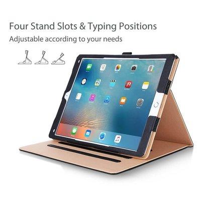 iPadspullekes.nl Apple iPad 10.2 (2019) Luxe Leer bruin zwart - Auto Wake Functie - 3 Standen - Leren iPad Hoes - iPad Case - iPad Hoesje - iPad Cover - iPad 2019 - Bruin/Zwart