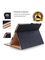 iPadspullekes.nl Apple iPad 10.2 (2019) Luxe Leer bruin zwart