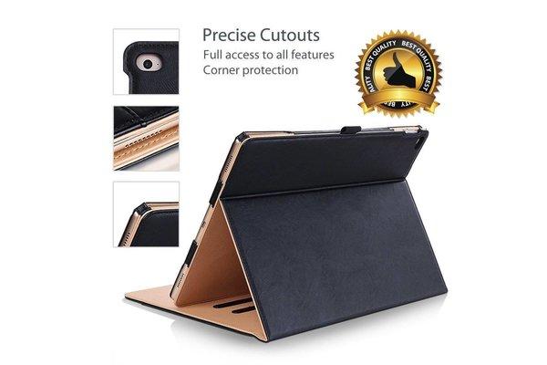 iPadspullekes.nl Apple iPad 10.2 (2019) Luxe Leer bruin zwart - Auto Wake Functie