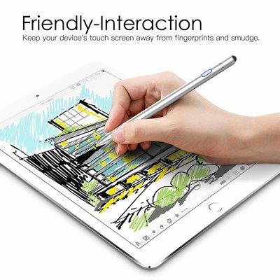 iPadspullekes.nl iPad Active Stylus Pen - Generic Stylus - Dual Touch - Zilver - iPad Active stylus - Geschikt voor IOS / Android / Windows Tablets & Telefoons