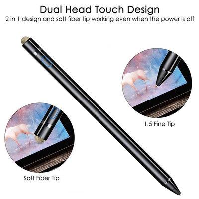 iPadspullekes.nl iPad Active Stylus Pen - Generic Stylus - Dual Touch - Zwart - iPad Active stylus - Geschikt voor IOS / Android / Windows Tablets & Telefoons