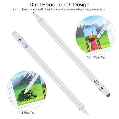 iPadspullekes.nl iPad Active Stylus Pen - Generic Stylus - Dual Touch - Wit - iPad Active stylus - Geschikt voor IOS / Android / Windows Tablets & Telefoons