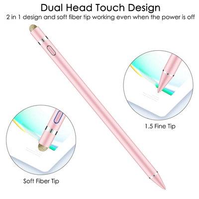 iPadspullekes.nl iPad Active Stylus Pen Dual Roze