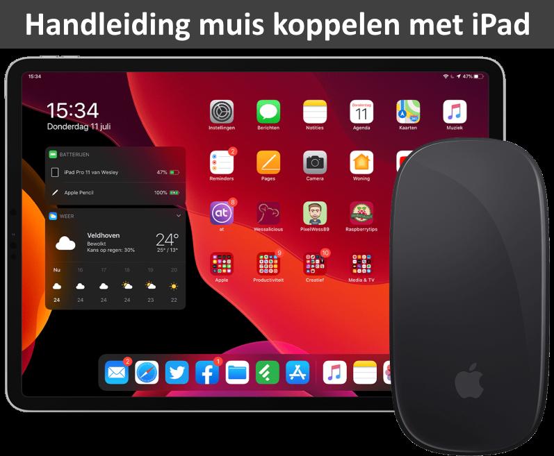 Handleiding muis koppelen aan iPad