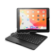 iPadspullekes.nl iPad 2019 10.2 toetsenbord draaibare case zwart