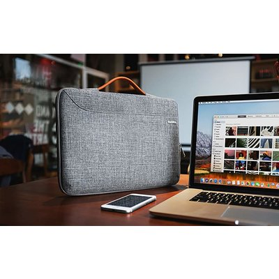 Tomtoc Tomtoc - Laptop & MacBook Sleeve - 15.5 inch - Laptop tas - Grijs