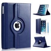iPadspullekes.nl iPad Air  2019 hoes 360 graden donker blauw leer