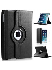 iPadspullekes.nl iPad Air hoes 360 graden zwart leer