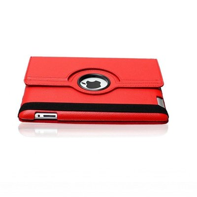 iPadspullekes.nl iPad 2017 hoes 360 graden rood leer