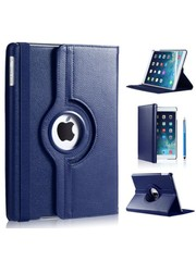 iPadspullekes.nl iPad Pro 10.5 hoes 360 graden donker blauw leer.