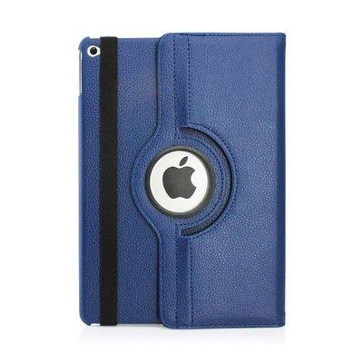 iPadspullekes.nl iPad Air  hoes 360 graden donker blauw leer