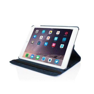 iPadspullekes.nl iPad 2017  hoes 360 graden donker blauw leer