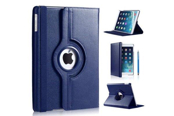 iPadspullekes.nl iPad 2018  hoes 360 graden donker blauw leer
