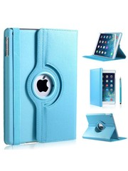 iPadspullekes.nl iPad Air hoes 360 graden licht blauw leer