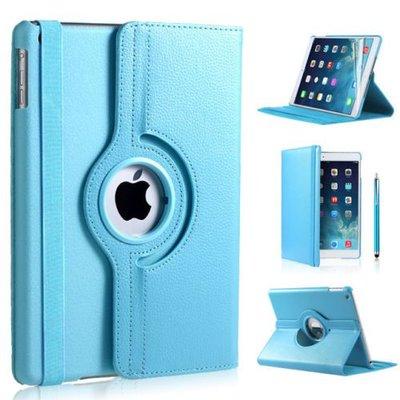 iPadspullekes.nl iPad 2017 hoes 360 graden licht blauw leer