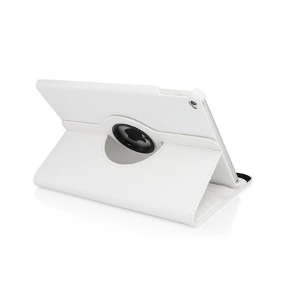 iPadspullekes.nl iPad 2017 hoes 360 graden wit leer