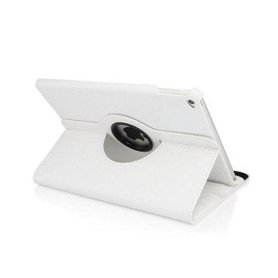 iPadspullekes.nl iPad 2019 hoes 360 graden wit leer