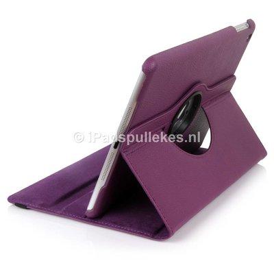 iPadspullekes.nl iPad 2017 hoes 360 graden paars leer