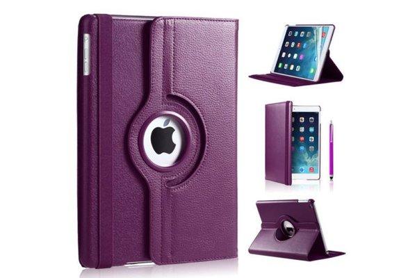 iPadspullekes.nl iPad Air 2 hoes 360 graden paars leer