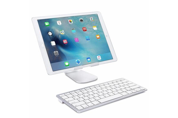 iPadspullekes.nl iPad Pro 12,9 2017 draadloos bluetooth toetsenbord wit