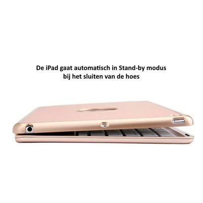 iPadspullekes.nl iPad 2020 10.2 Inch toetsenbord hoes goud