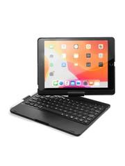 iPadspullekes.nl iPad 2020 10.2 Inch toetsenbord draaibare case zwart