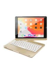 iPadspullekes.nl iPad 2020 10.2 Inch toetsenbord draaibare case goud