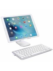 iPadspullekes.nl iPad 2020 10.2 Inch draadloos bluetooth toetsenbord wit