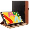 iPadspullekes.nl iPad Air 2019 luxe hoes zwart-bruin leer