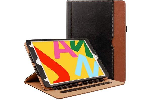 iPadspullekes.nl iPad 2, 3, 4  luxe hoes leer bruin zwart