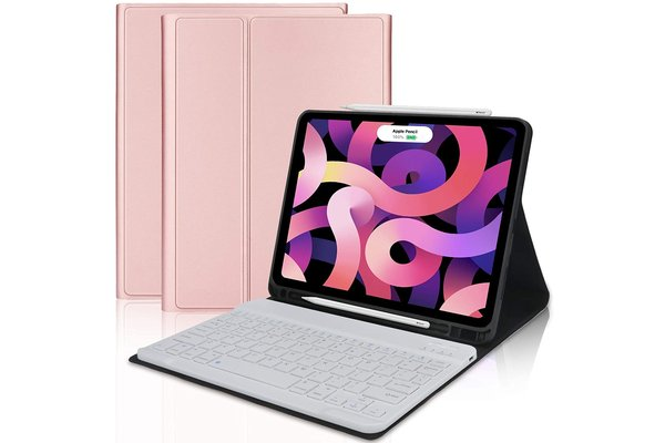 iPadspullekes.nl iPad Air 2020 10.9-inch toetsenbord afneembaar goud